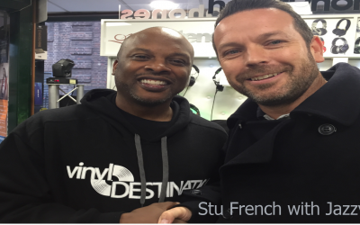 Our DJ Stu French with the legend that is Jazzy Jeff